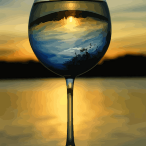 Paint By Numbers Kit Wine Sunset - Just Paint by Number