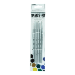 6 Liquitex Basics Short Handled Acrylic Paint Brushes - Just Paint by Number