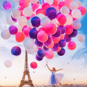 Paint By Numbers Kit Paris balloons - Just Paint by Number