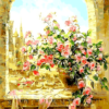 Paint By Number Kit Flower Window - Just Paint by Number