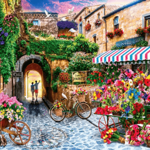 Paint By Numbers Kit Landscape Flower - Just Paint by Number