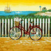 Paint by Numbers Kit Landscape Bicycle - Just Paint by Number