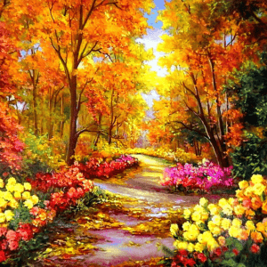 Paint By Numbers Kit Fall Forest - Just Paint by Number