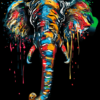 Abstract Elephant Paint By Numbers Kit - Just Paint by Number