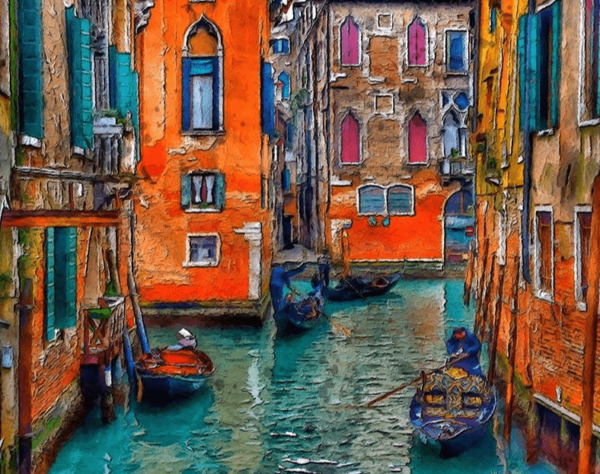 Paint by Numbers Kit Vintage Venice - Just Paint by Number