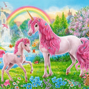 Paint by Numbers Kit for Kids Pink Unicorn - Just Paint by Number