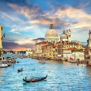 Paint by Numbers Kit Landscape Venice - Just Paint by Number