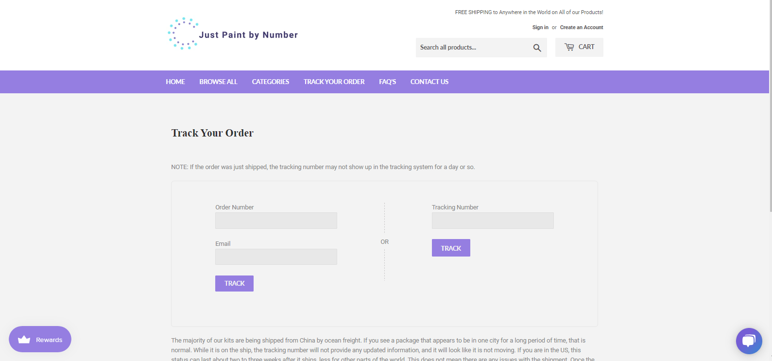 Improved Order Tracking System - Just Paint by Number