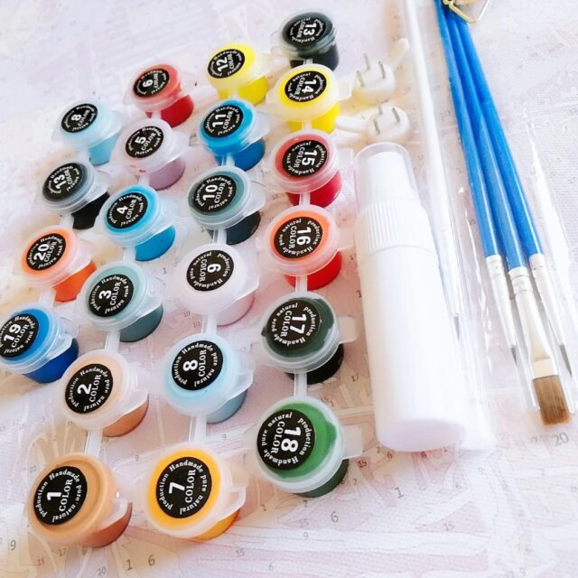 Paint By Number Kit Scenery Street - Just Paint by Number