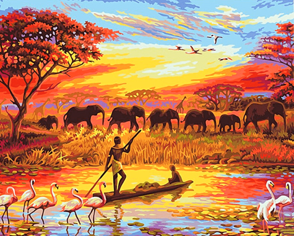 Paint By Number Kit Landscape Natural Africa - Just Paint by Number