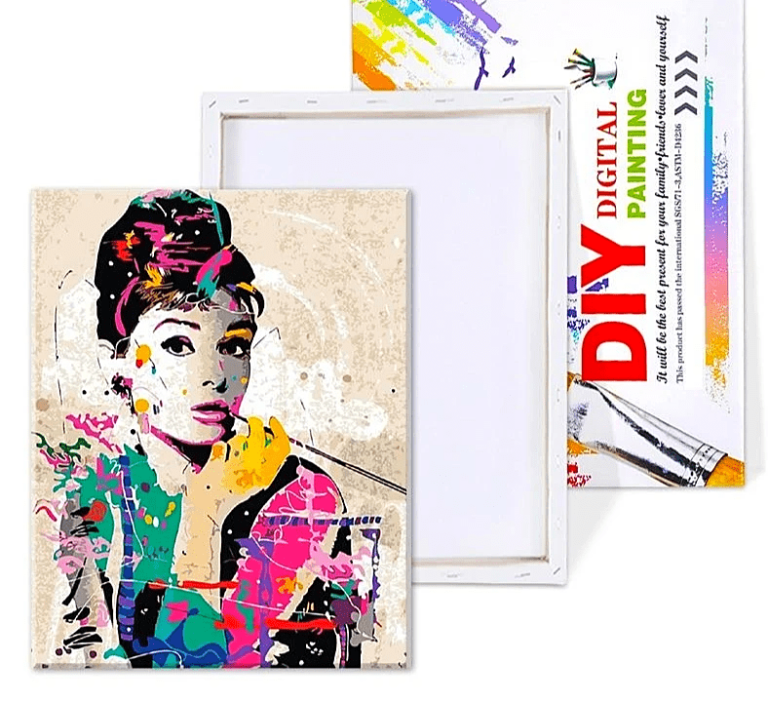 Paint By Number Kit Abstract Audrey Hepburn - Just Paint by Number