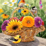 Paint by Numbers Kit Birds & Flowers - Just Paint by Number
