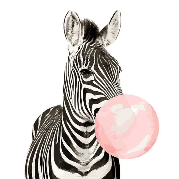 Painting by Numbers Kit for Kids Zebra Modern Art - Just Paint by Number