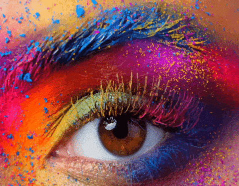 womans-eye-with-colorful-facepaint