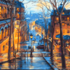 Paint By Numbers Kit Landscape Street - Just Paint by Number