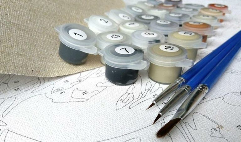 Two Wolves Paint by Numbers Kit - Just Paint by Number