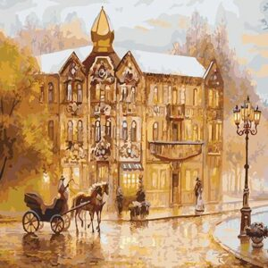Vintage Europe Street Paint by Numbers - Just Paint by Number