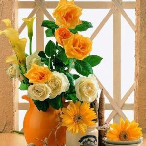 Yellow Flowers Paint by Numbers Kit - Just Paint by Number
