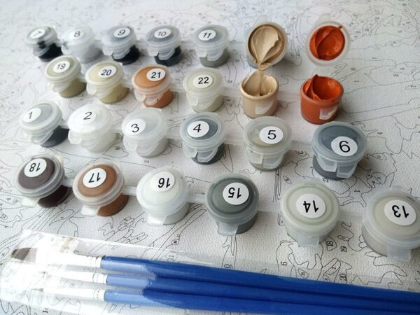 Vintage Rome Colosseum Paint by Numbers Kit - Just Paint by Number