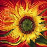 Abstract Flower Paint by Numbers Kit - Just Paint by Number