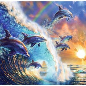 Dolphin Fantasy Paint By Numbers Kit - Just Paint by Number