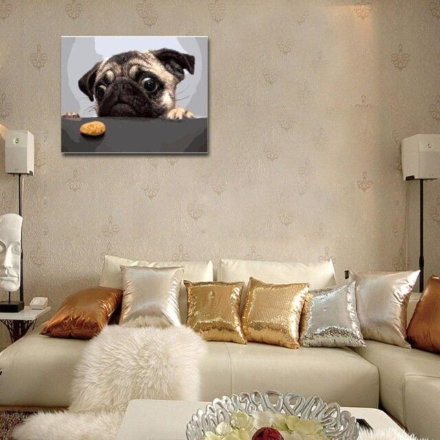 Pug Paint by Numbers Kit - Just Paint by Number