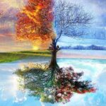 Paint By Numbers Kit Abstract Season Tree - Just Paint by Number